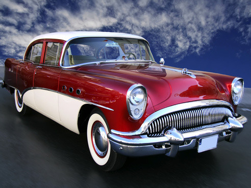 Classic Red Buick